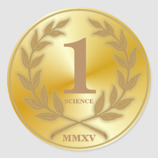 Student's Gold Medal Round Sticker