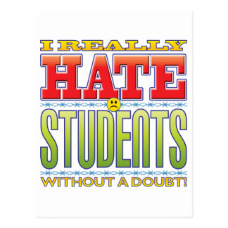 Students Hate Face Postcard