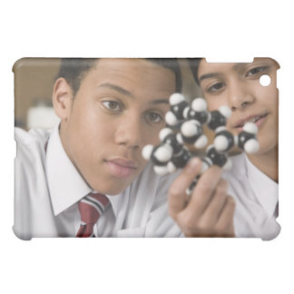 Students looking at molecular model iPad mini case