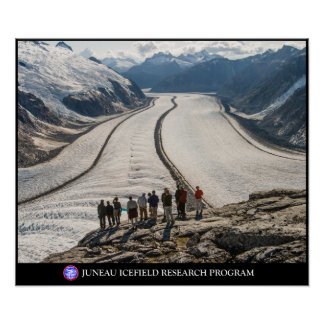 Students observe the Gilkey Trench in Alaska Poster