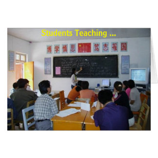 Students teaching In Gulang, Summer 2005 Greeting Card