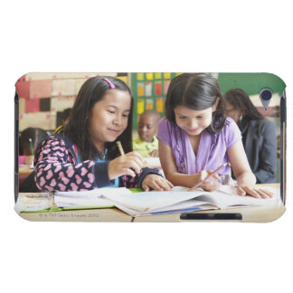 Students working together in classroom iPod touch cover