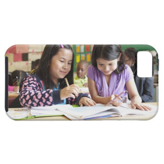 Students working together in classroom iPhone 5 covers