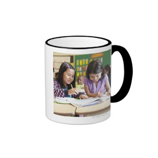 Students working together in classroom mug