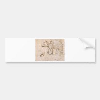 Studies of a BeWalking by Leonardo da Vinci Bumper Sticker