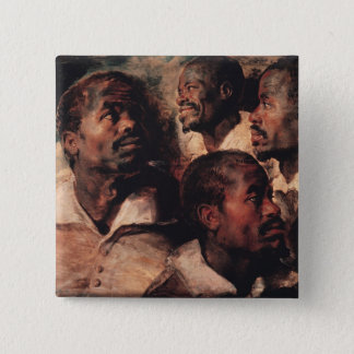 Studies of the Head of a Negro 15 Cm Square Badge