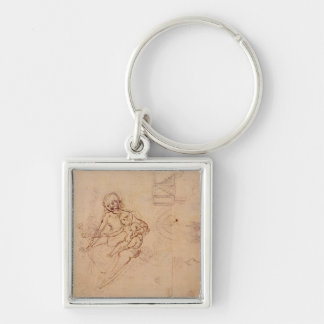 Studies  Virgin and Child Heads Profile Machines Key Chains