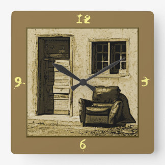 Studio Desplobado Square Wall Clock