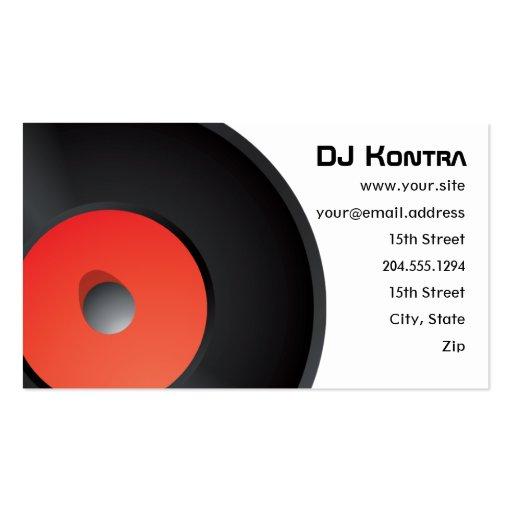 Studio / DJ Record Business Card