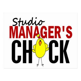 Studio Manager's Chick Postcard