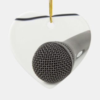 Studio Microphone Ceramic Heart Decoration