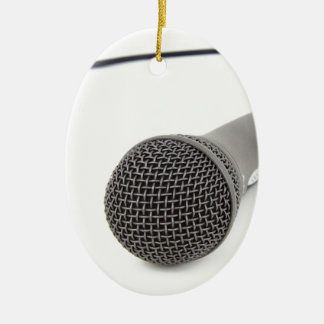 Studio Microphone Ceramic Oval Decoration