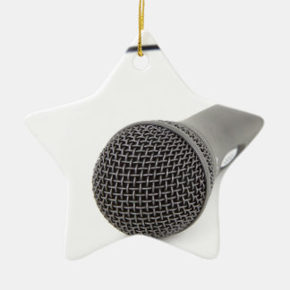 Studio Microphone Ceramic Star Decoration