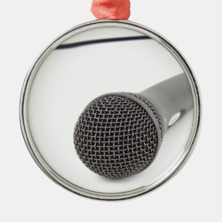 Studio Microphone Metal Ornament