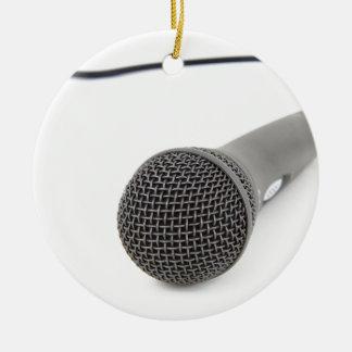 Studio Microphone Round Ceramic Decoration