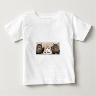 """Studio Photo - 3 Cats Saying """"Cheese"""" Baby T-Shirt"""