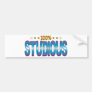 Studious Star Tag v2 Bumper Stickers