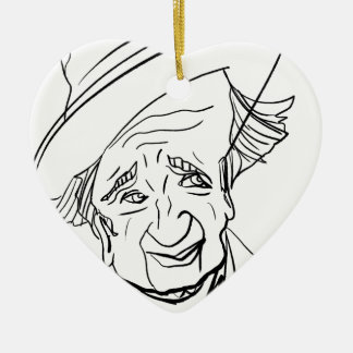 Studs Terkel Ceramic Heart Decoration