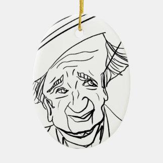 Studs Terkel Ceramic Oval Decoration