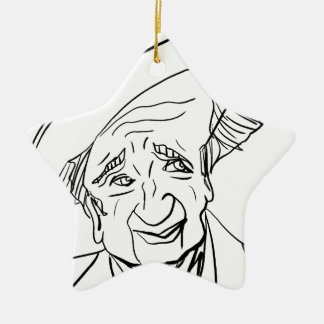 Studs Terkel Ceramic Star Decoration