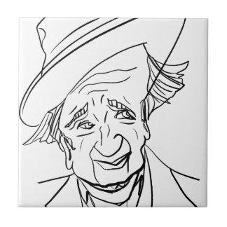 Studs Terkel Small Square Tile
