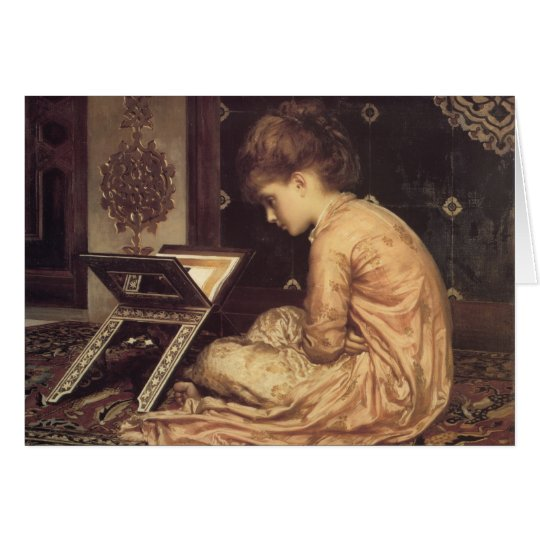 Study at a Reading Desk - Lord Frederic Leighton Card