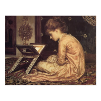 Study At a Reading Desk - Lord Frederick Leighton Postcard