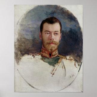Study for a portrait of Tsar Nicholas II  1898 Poster