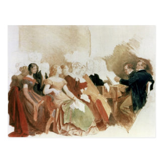 Study for An Evening at Baron von Spaun's Postcard