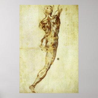 Study for Battle Cascina Michelangelo Renaissance Poster