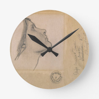 Study for 'Lamia', c.1904-05 (pencil on paper) Clock