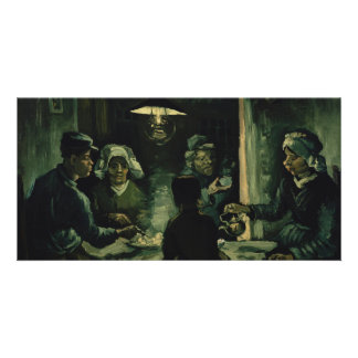 Study for Potato Eaters by Vincent Van Gogh Customised Photo Card