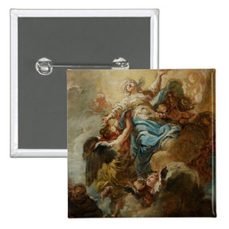 Study for the Assumption of the Virgin, c.1760 2 15 Cm Square Badge