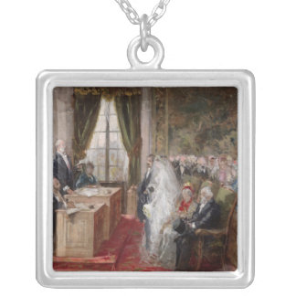 Study for the Civil Marriage Silver Plated Necklace
