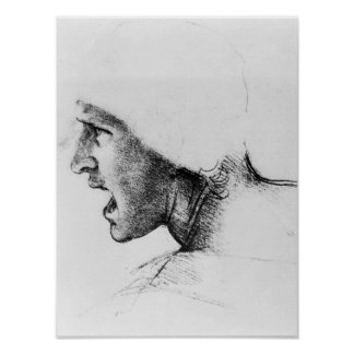 Study for the head of a soldier poster