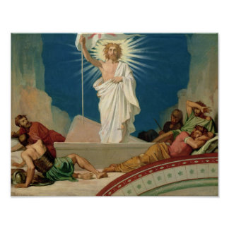 Study for the Resurrection of Christ, 1860 Poster