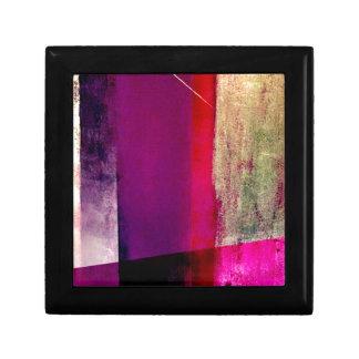 Study in purple and fuchsia small square gift box