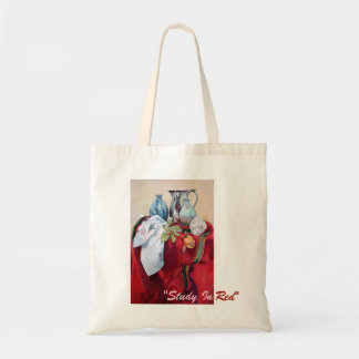 Study In Red Tote Bag