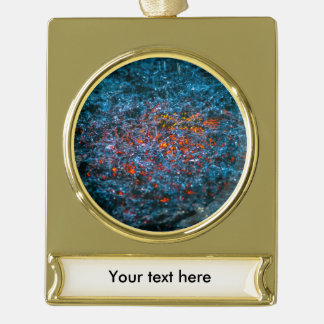 Study In Watercolor - Orange Gold Plated Banner Ornament