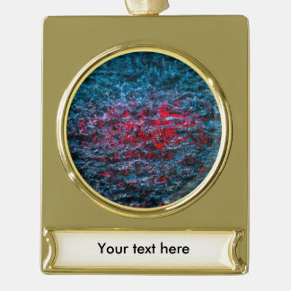 Study In Watercolor - Red Gold Plated Banner Ornament