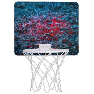 Study In Watercolor - Red Mini Basketball Hoop
