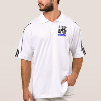 Study Makes Me Feel #0000FF(Blue) Polo Shirt