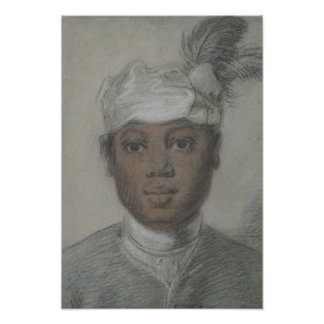 Study of a black servant  by Cornelis Troost Poster