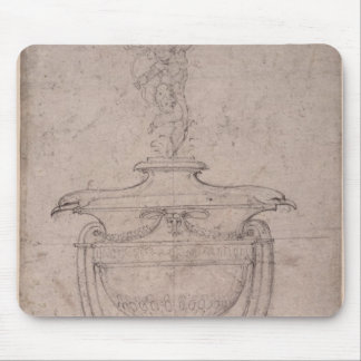 Study of a decorative urn mouse pad