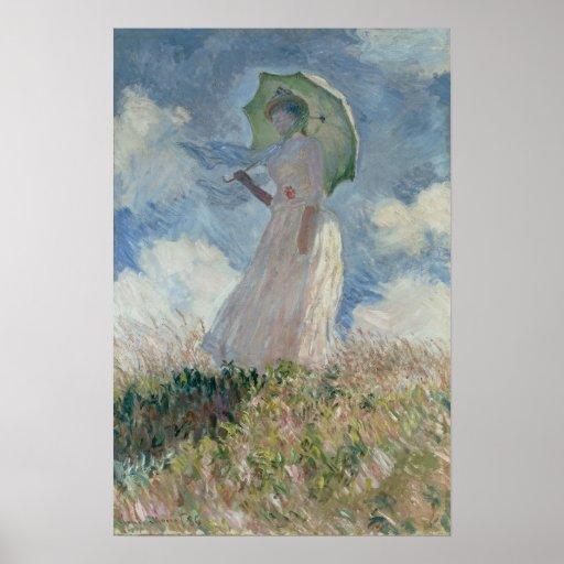 Study of a Figure Outdoors (Facing Left) Monet Print