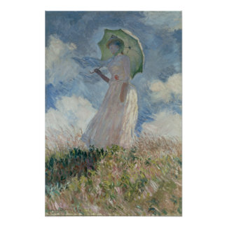 Study of a Figure Outdoors Facing Left Monet Print