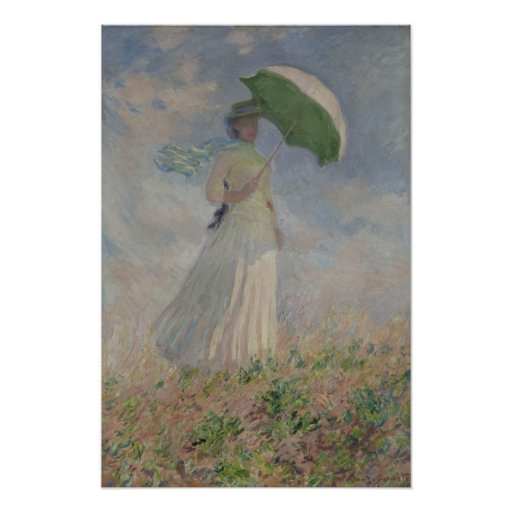 Study of a Figure Outdoors (Facing Right) Monet Posters