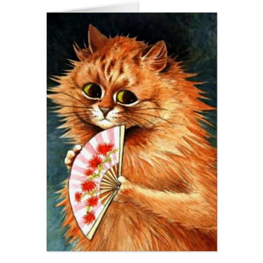 Study of a Ginger Cat - Louis Wain artwork Card