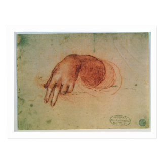 Study of a hand (red chalk on paper) postcard