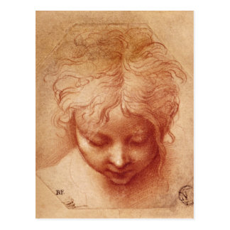 Study of a Head Postcard